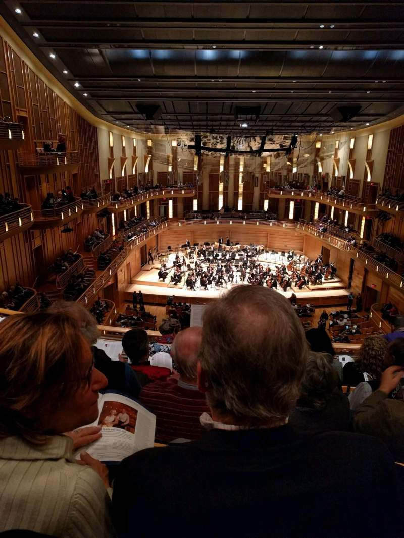 Seating view for The Music Center at Strathmore Section Grand Tier Row E Seat 119
