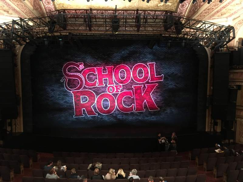 Seating view for Winter Garden Theatre Section Mezzanine RC Row A Seat 110
