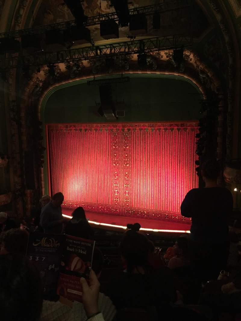 Seating view for New Amsterdam Theatre Section Mezzanine R Row HH Seat 14