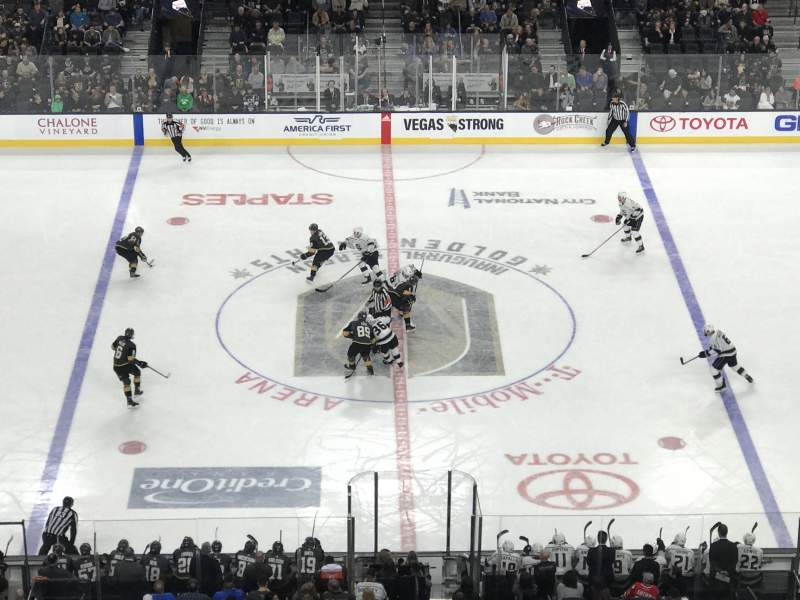T-Mobile Arena, section: 205, row: H, seat: 5