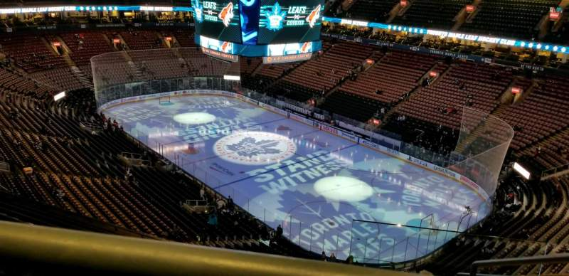 Seating view for Scotiabank Arena Section 306 Row 12 Seat 1