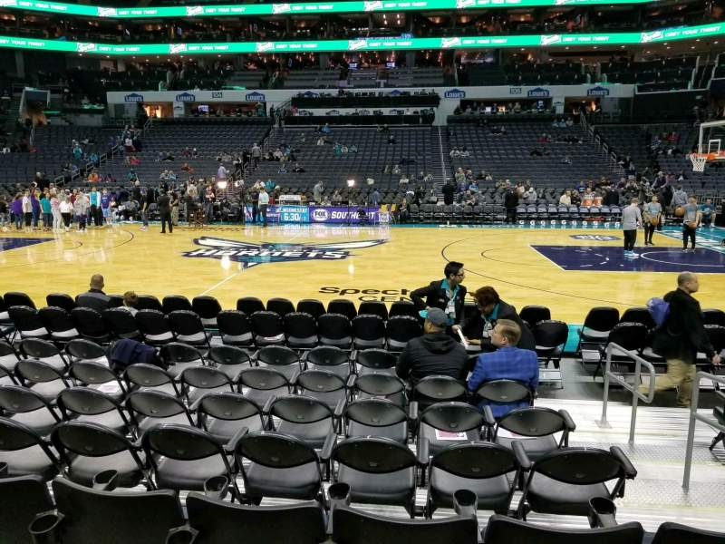 Seating view for Spectrum Center Section 114 Row E Seat 3