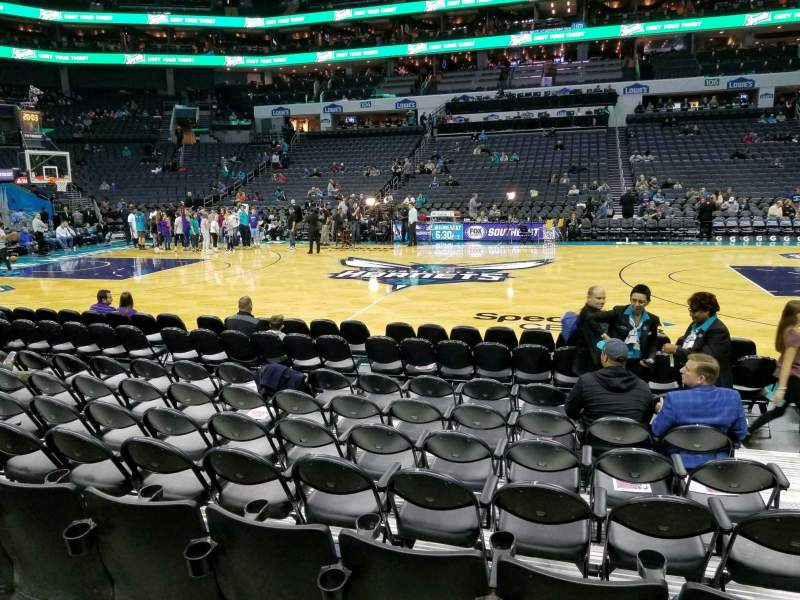 Seating view for Spectrum Center Section 114 Row E Seat 4