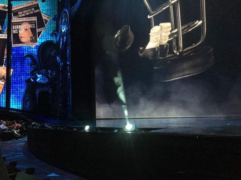 Seating view for Michael Jackson One Theatre Section 103 Row B Seat 1