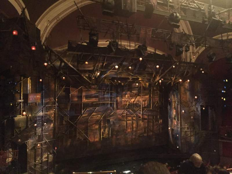 Seating view for Broadway Theatre - 53rd Street Section Front Mezzanine L Row F Seat 4