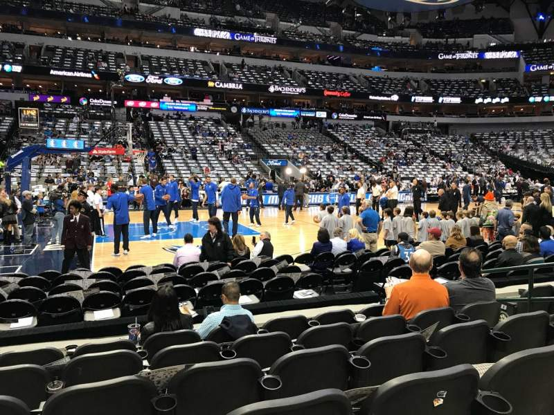 Seating view for American Airlines Center Section 108 Row F Seat 7