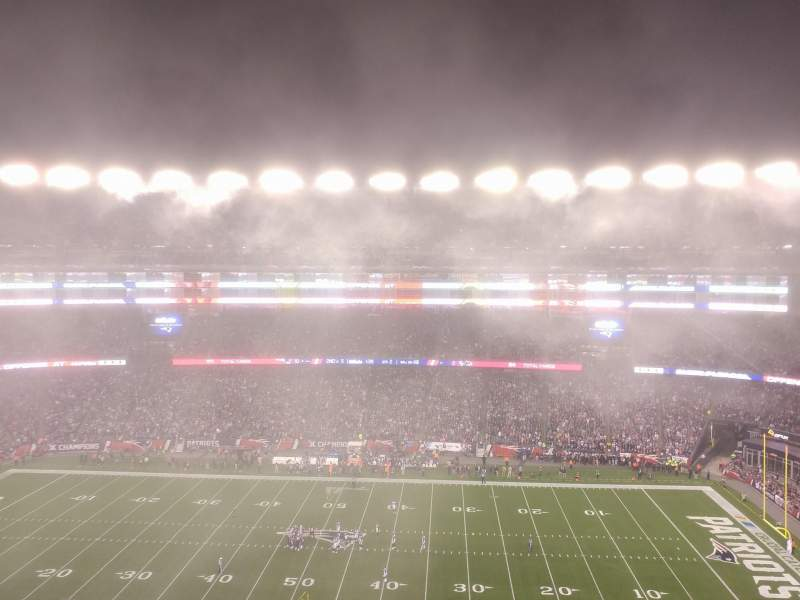 Seating view for Gillette Stadium Section 330 Row 3 Seat 2