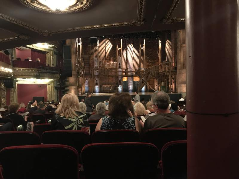 CIBC Theatre, section: Orch LC, row: X, seat: 107
