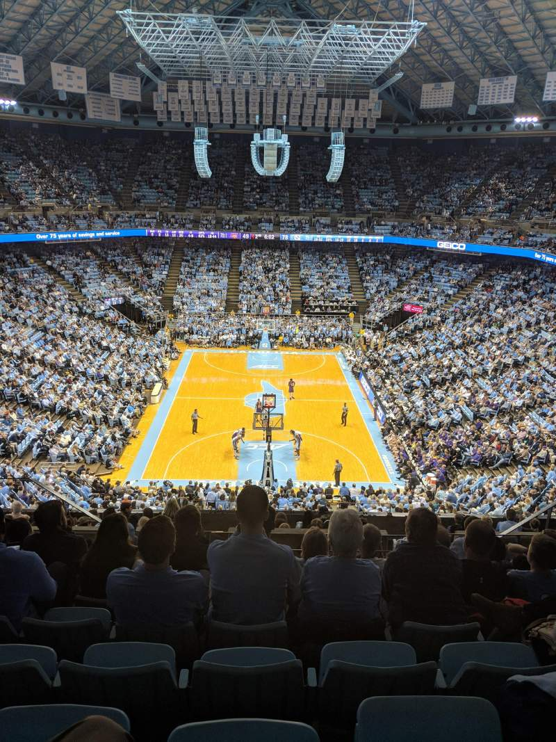 Seating view for Dean Dome Section 200 Row L Seat 8