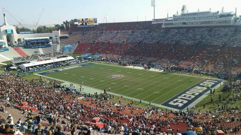 Los Angeles Memorial Coliseum, section: 18L, row: 87, seat: 20
