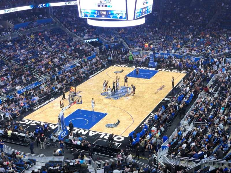 Seating view for Amway Center Section 215 Row 1 Seat 1