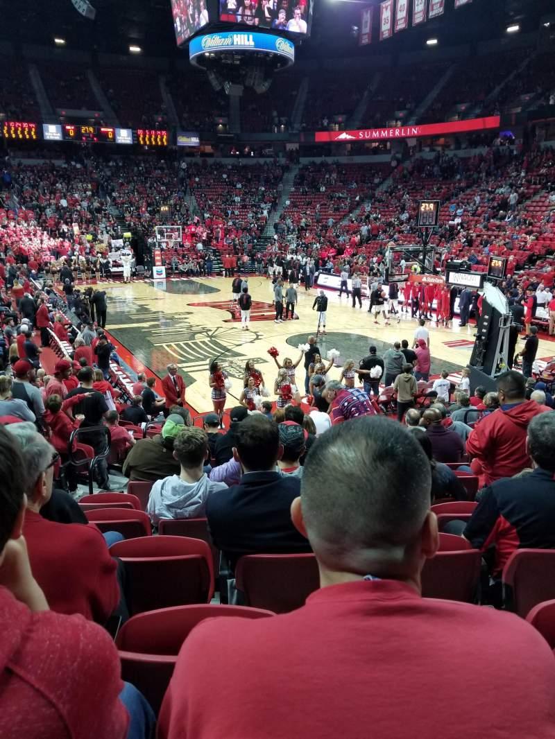 Thomas & Mack Center, section: 102, row: E, seat: 9