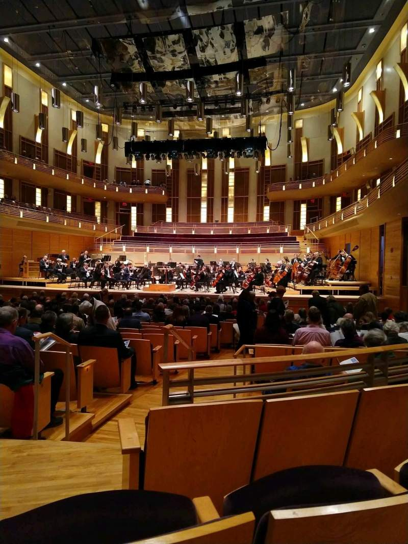 Seating view for The Music Center at Strathmore Section Orchestra Tier Right Row CC Seat 4