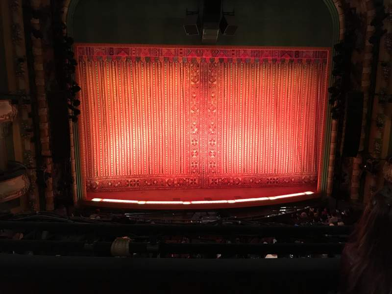 Seating view for New Amsterdam Theatre Section Mezzanine C Row CC Seat 116