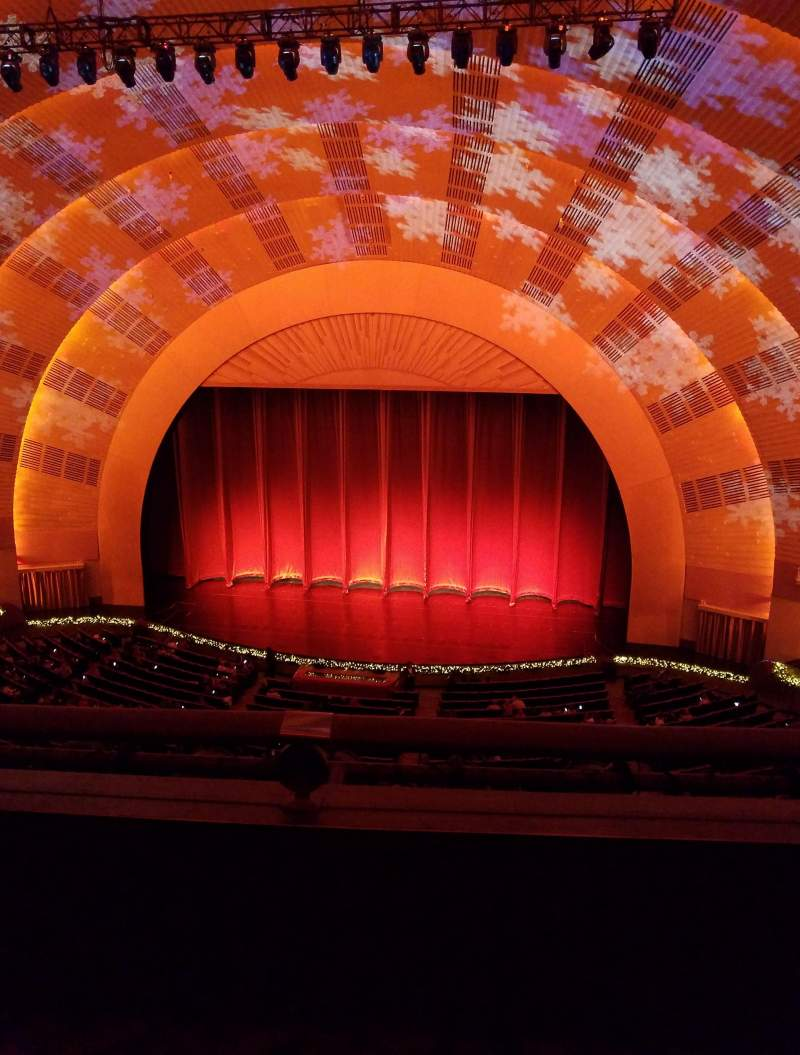 Seating view for Radio City Music Hall Section 3rd Mezzanine 3 Row B Seat 307