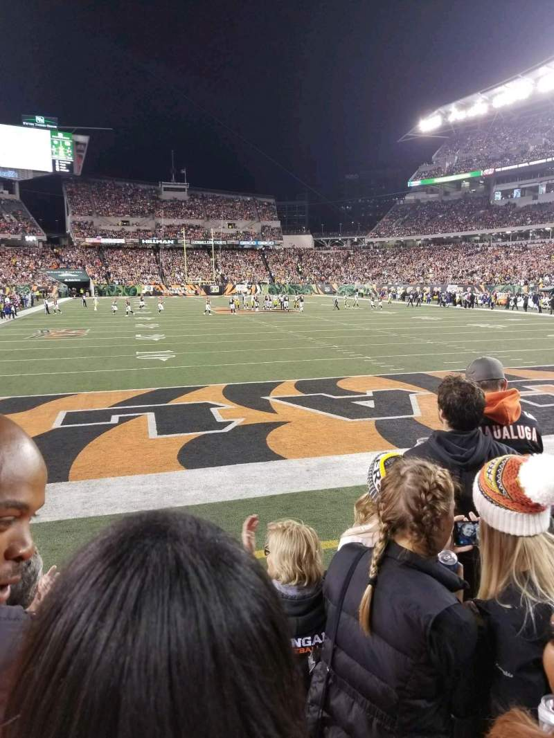 Paul Brown Stadium, section: 156, row: 4, seat: 14