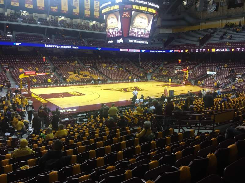 Williams Arena, section: 108, row: 21, seat: 13