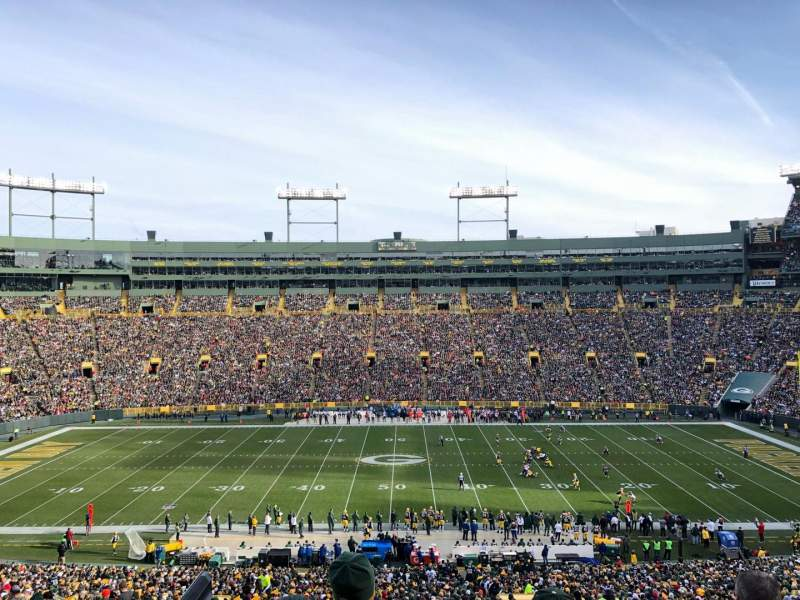 Seating view for Lambeau Field Section 326 Row 2 Seat 10