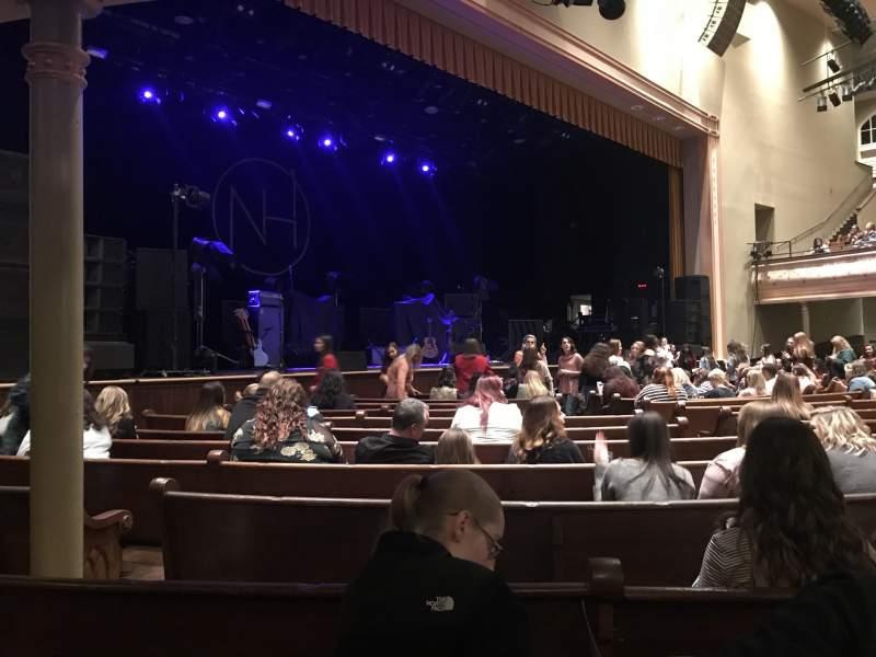 Ryman Auditorium, section: Main Floor 7, row: P, seat: 7