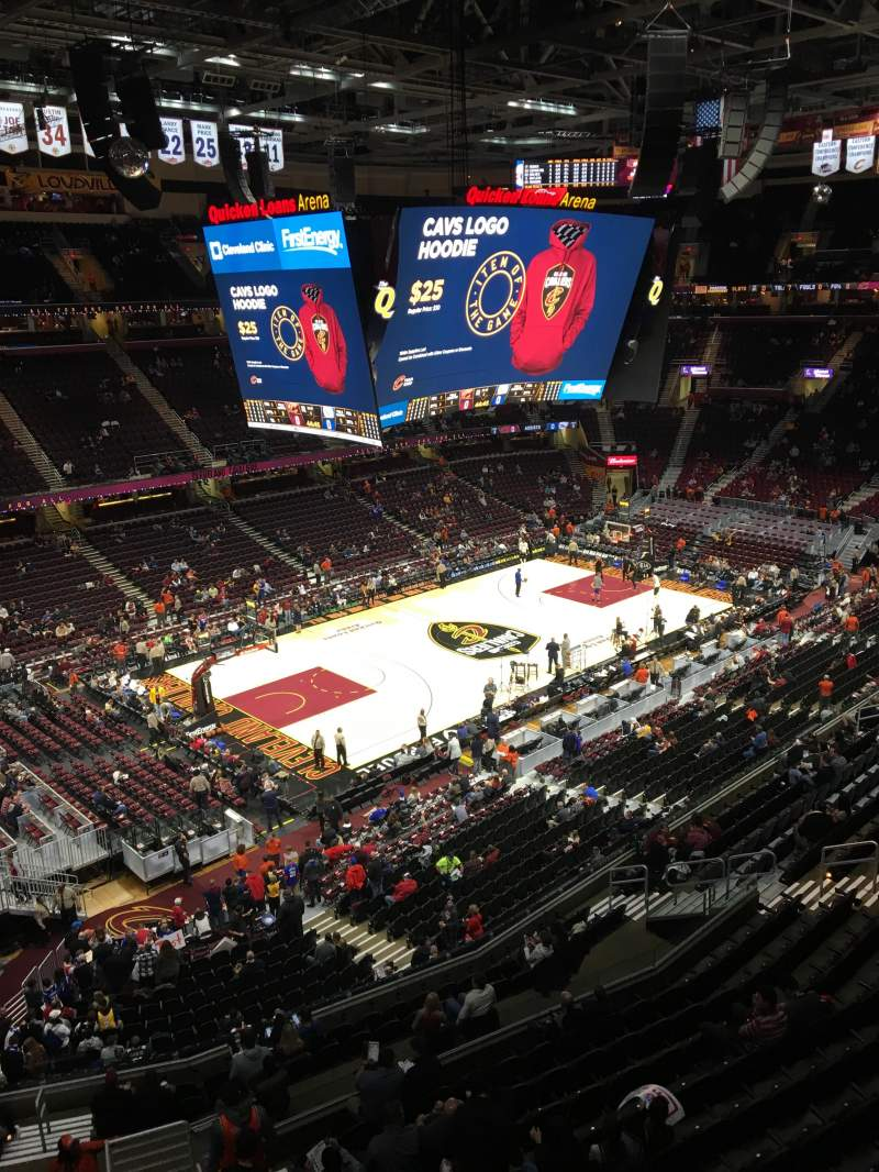 Seating view for Quicken Loans Arena Section 222 Row 1 Seat 9