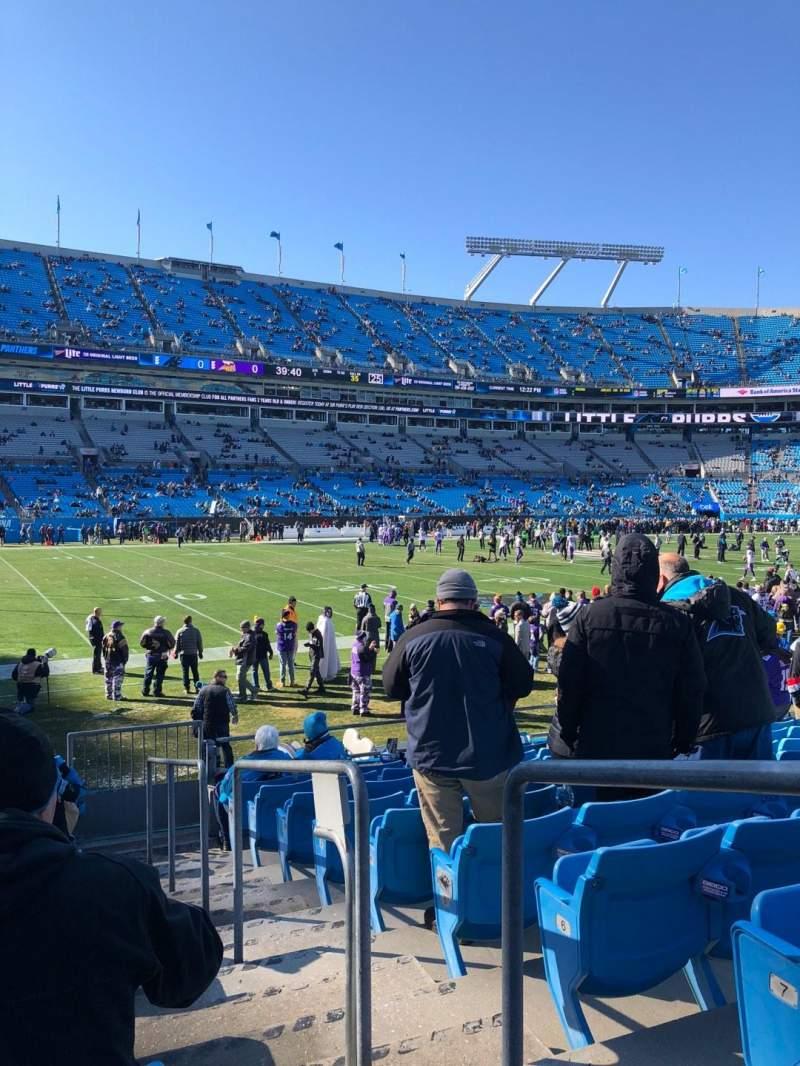 Bank of America Stadium, section: 116, row: 9, seat: 1