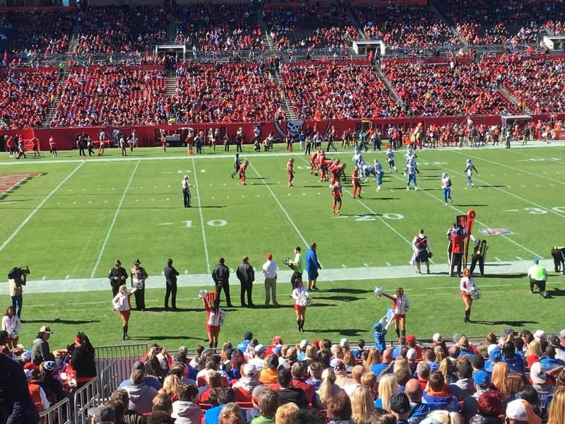 Raymond James Stadium, section: 133, row: WC, seat: 2