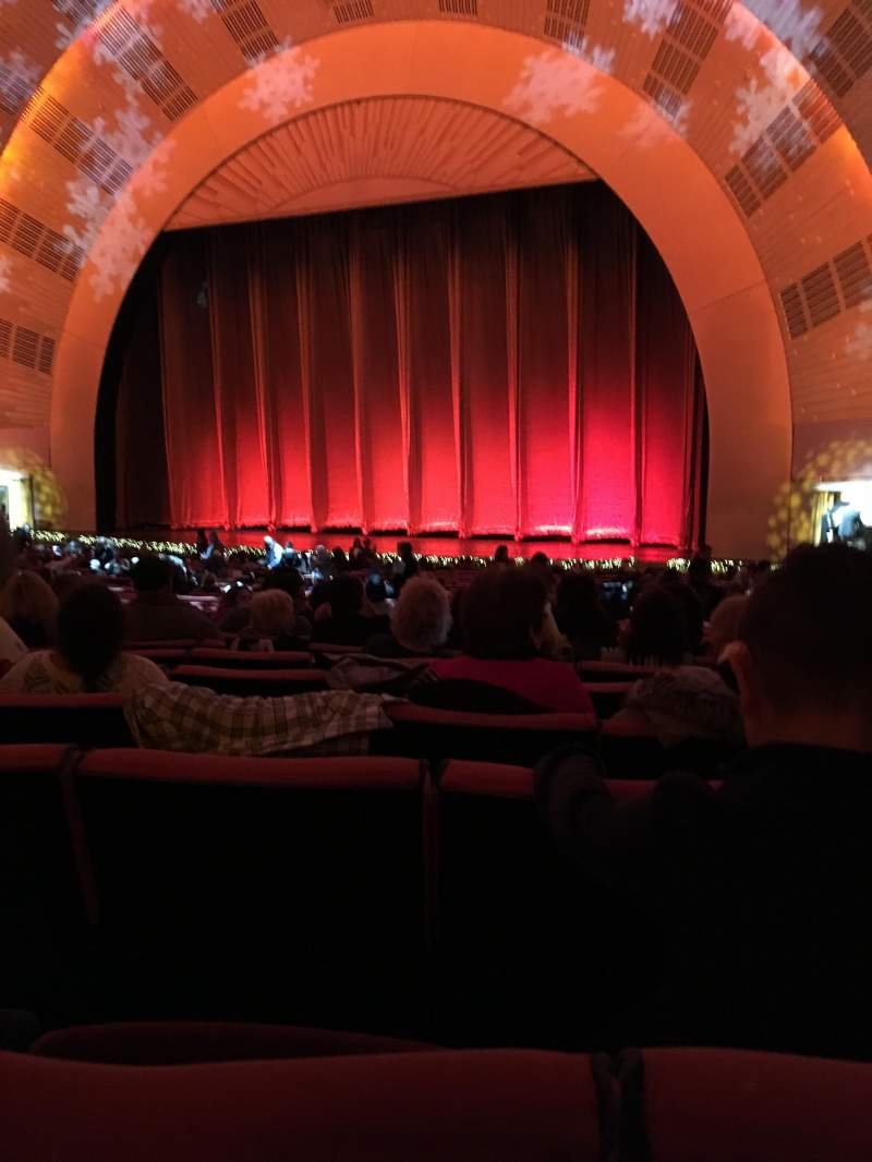 Seating view for Radio City Music Hall Section Orchestra 2 Row K Seat 206