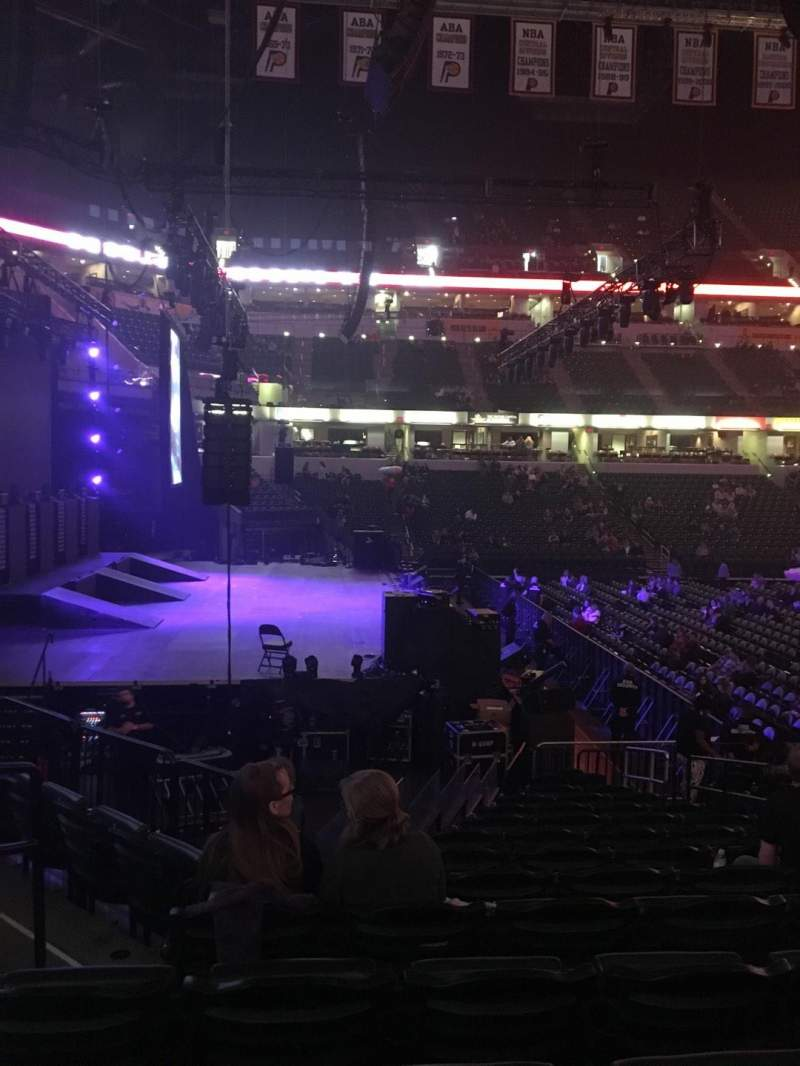 Bankers Life Fieldhouse, section: 18, row: 19, seat: 7