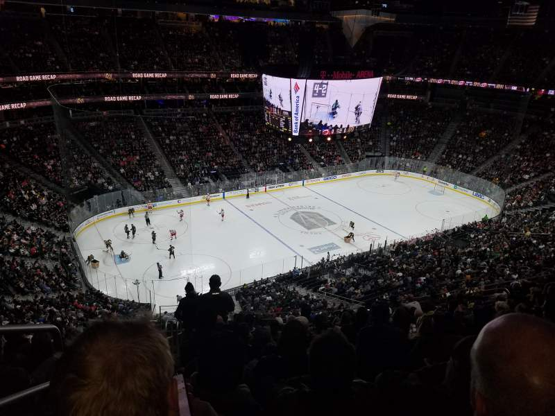 T-Mobile Arena, section: 202, row: M, seat: 1