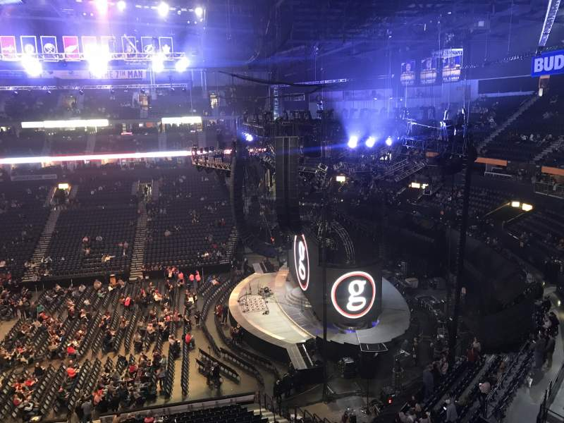 Seating view for Bridgestone Arena Section 311 Row A Seat 8
