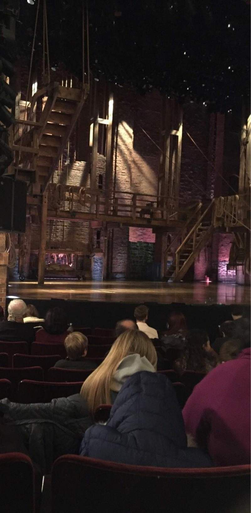 Seating view for Richard Rodgers Theatre Section Orchestra L Row H Seat 15