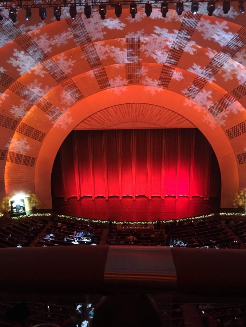 Seating view for Radio City Music Hall Section 3rd Mezzanine 4  Row A Seat 407