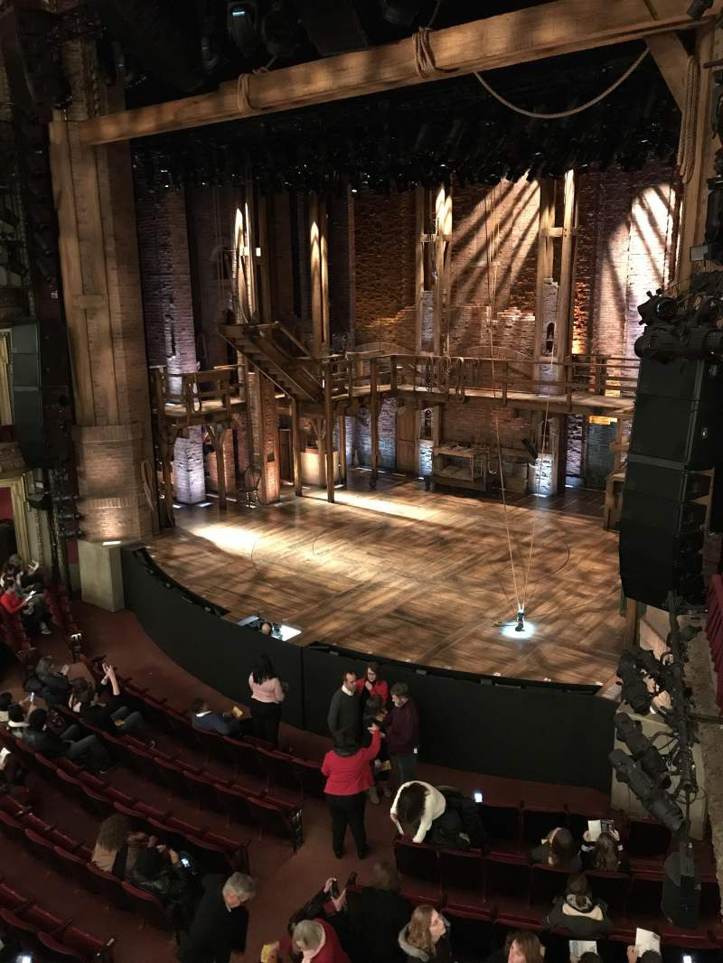 CIBC Theatre, section: Mezzanine-R, row: A, seat: 12