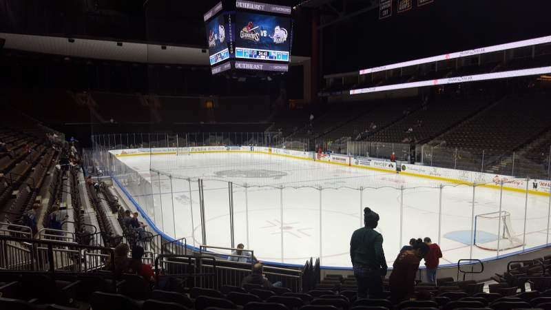 Seating view for Jacksonville Veterans Memorial Arena Section 110 Row N Seat 12