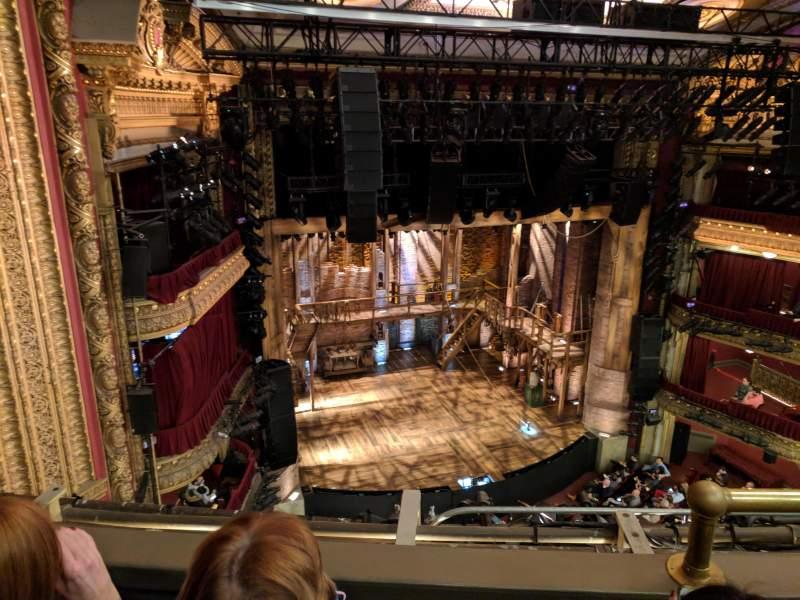 CIBC Theatre, section: Balcony L, row: B, seat: 3