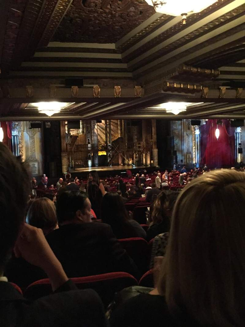 Hollywood Pantages Theatre, section: Orchestra L, row: YY, seat: 5