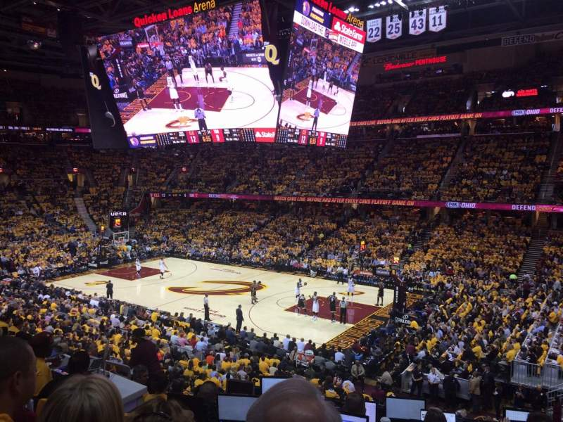 Seating view for Quicken Loans Arena Section 111 Row 21