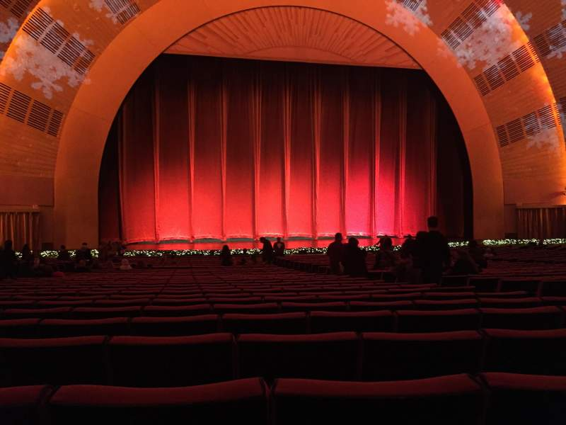 Radio City Music Hall, section: Orchestra 5, row: F, seat: 506