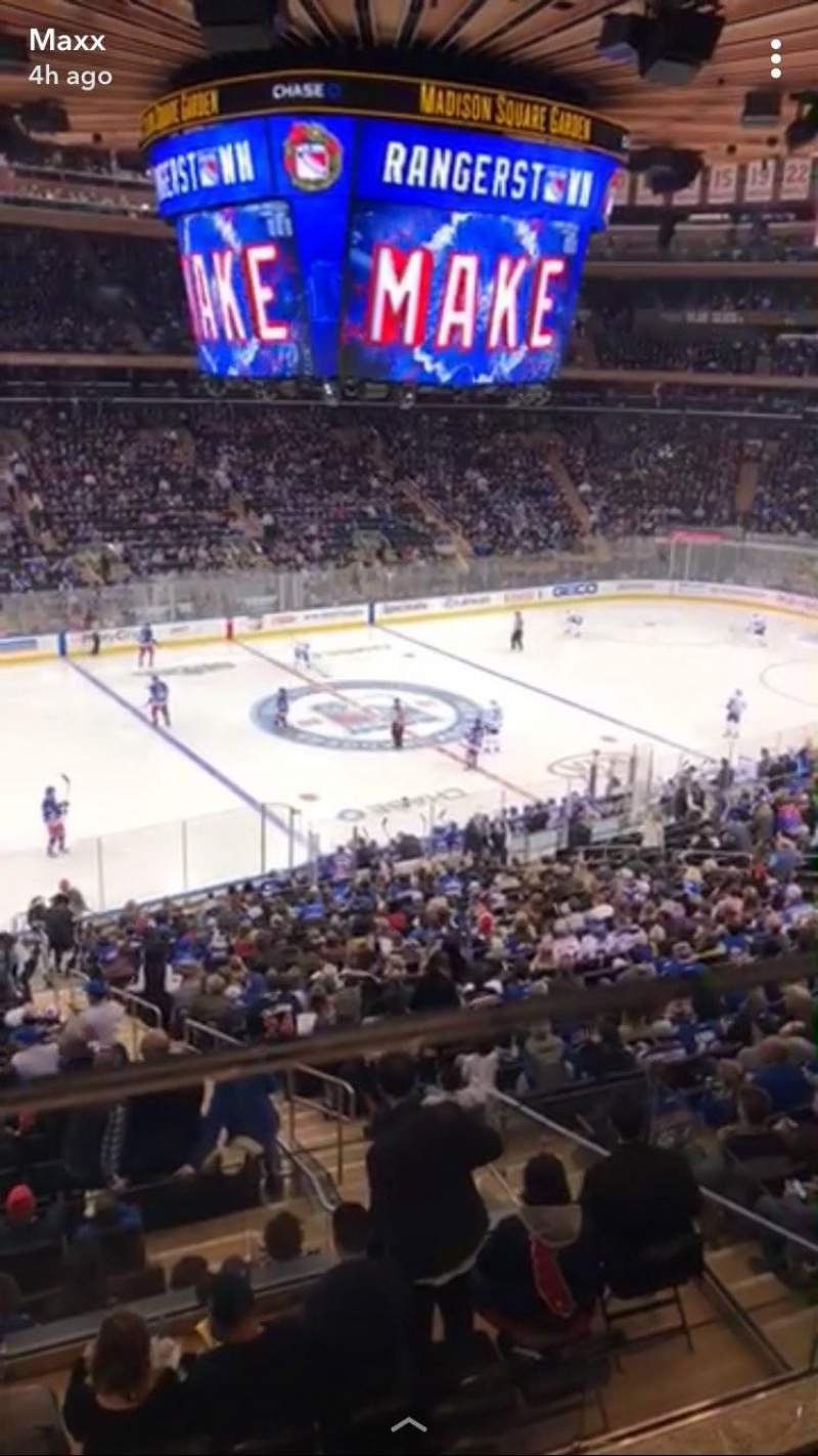 Madison Square Garden, section: 209, row: 1, seat: 10