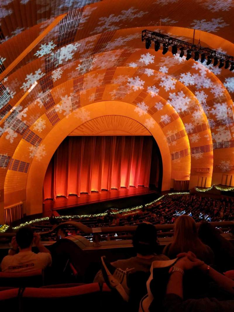 Seating view for Radio City Music Hall Section 3rd Mezzanine 7 Row b Seat 705