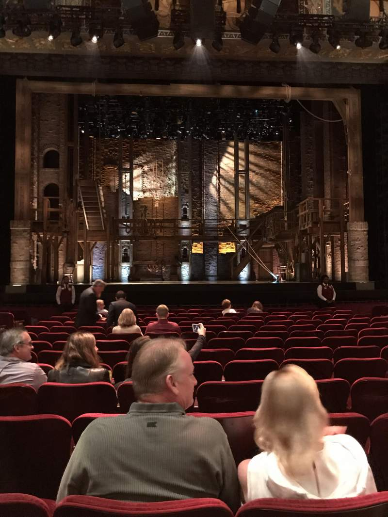 Hollywood Pantages Theatre, section: Orchestra C, row: P, seat: 109