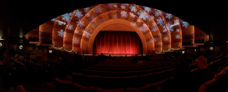 Radio City Music Hall, section: Orchestra 4, row: P, seat: 411