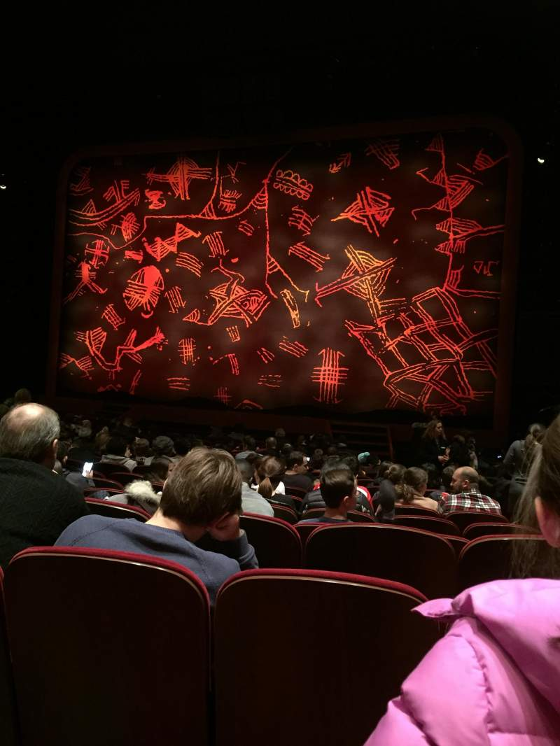 Seating view for Minskoff Theatre Section Orchestra C Row R Seat 130