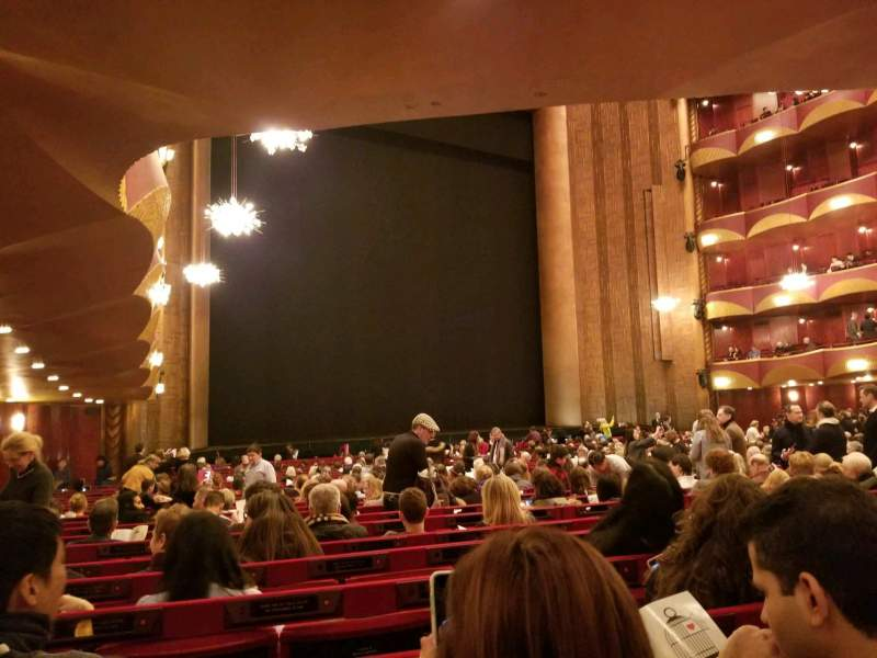 Seating view for Metropolitan Opera House - Lincoln Center Section ORCH Row Y Seat 31
