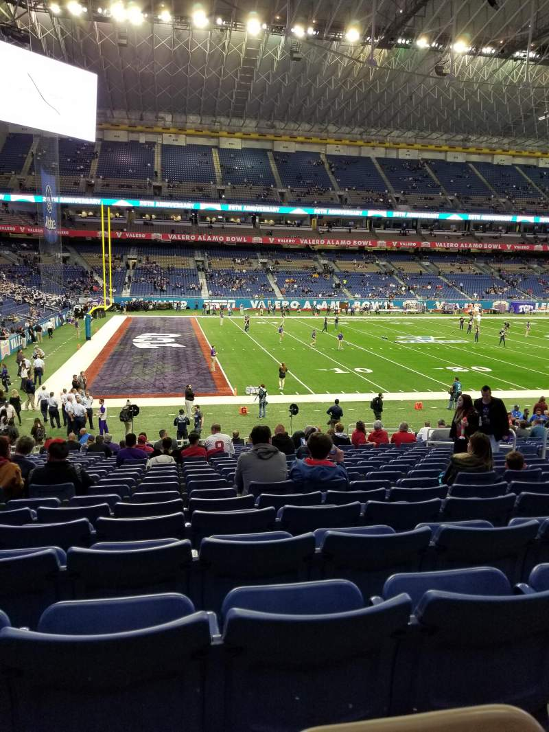 Seating View For Alamodome Section 116 Row 20 Seat 12
