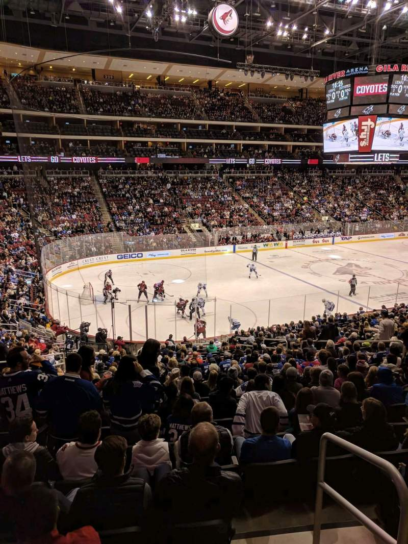 Seating view for Gila River Arena Section 114 Row XWC Seat 15
