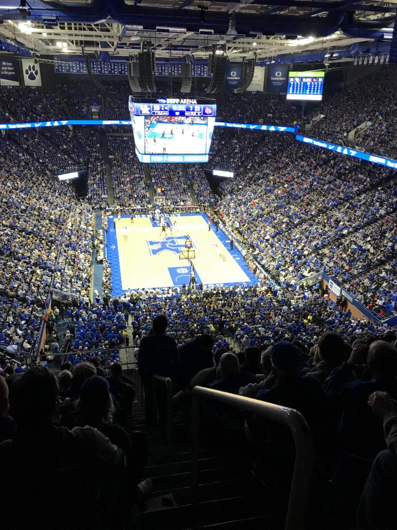 Rupp Arena, section: 241, row: U, seat: 1