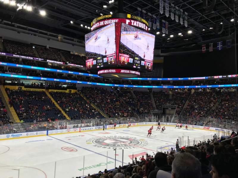 Centre Vidéotron, section: 103, row: JJ, seat: 16