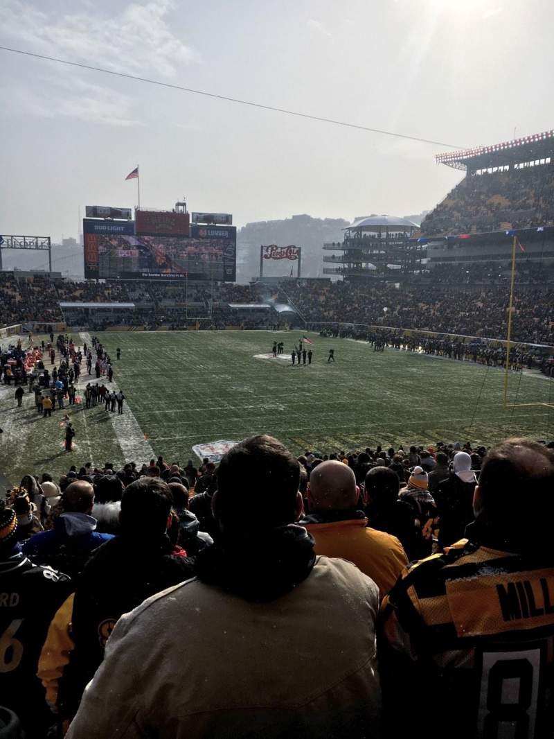 Heinz Field, section: 120, row: HH, seat: 8