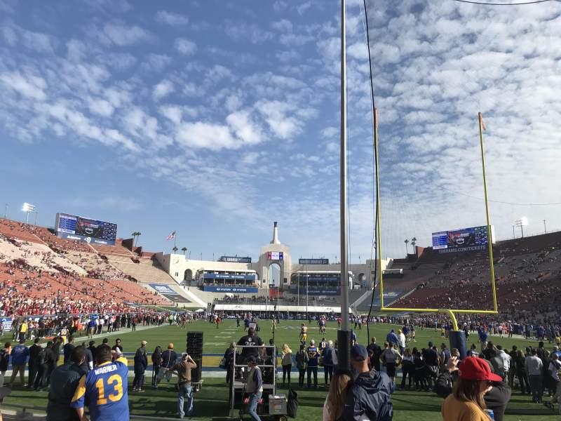 Los Angeles Memorial Coliseum, section: 15L, row: 7, seat: 5
